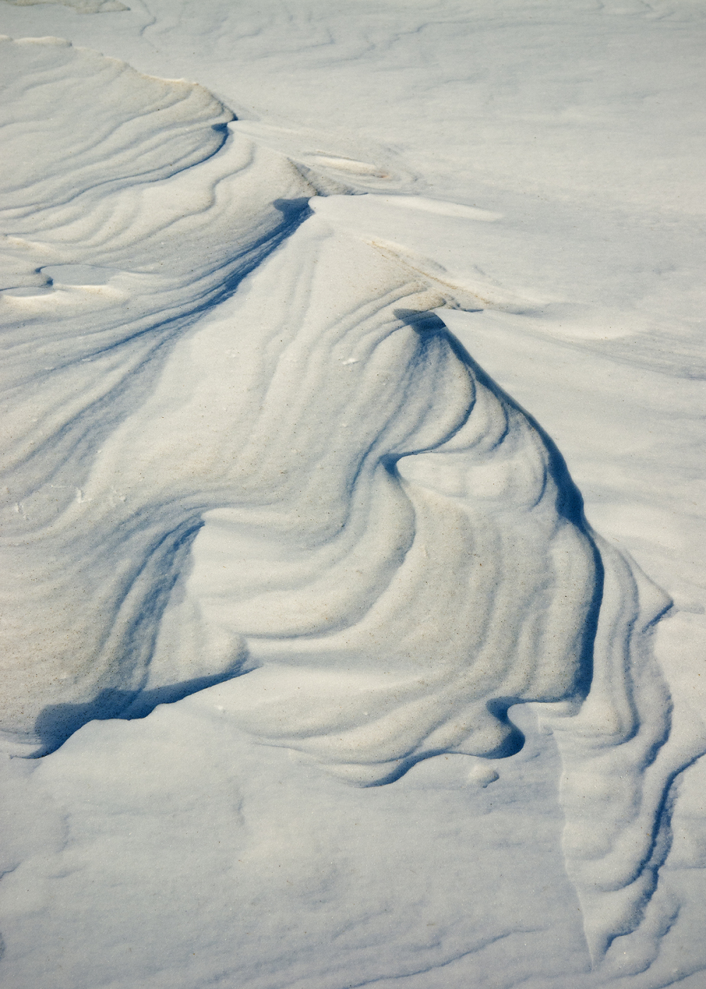 Wind scoured snow