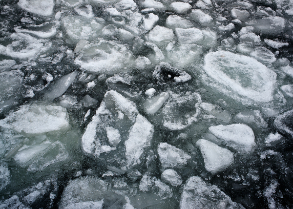 Ice on Lake Champlain
