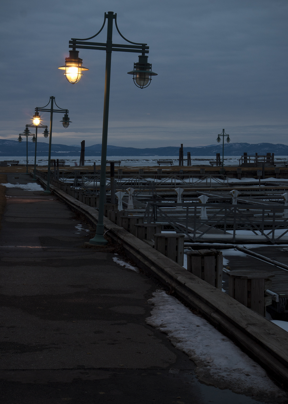 Dusk at Lake Champlain