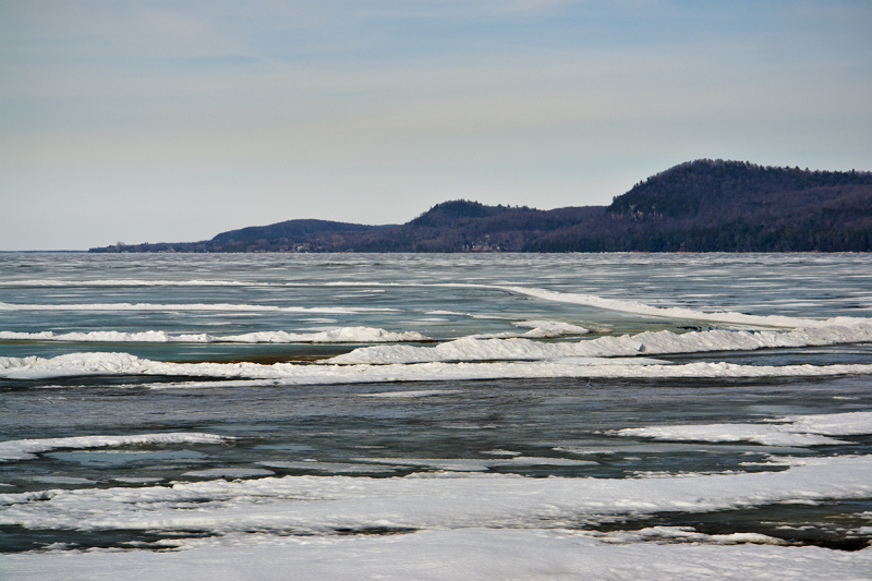 Thawing Lake Champlain