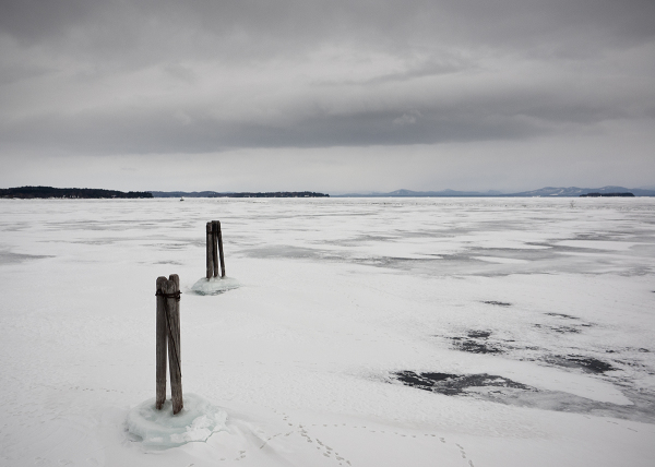Frozen Lake Champlain