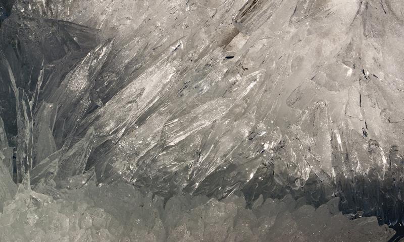 Crystaline melting ice on Lake Champlain