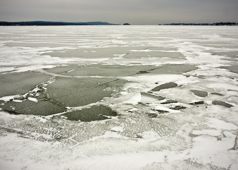 Frozen St. Albans Bay