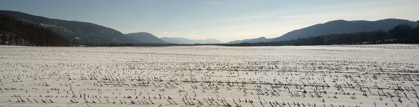 Panorama of winter in Vermont