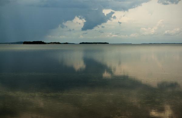 Summer storm over Lake Champlain