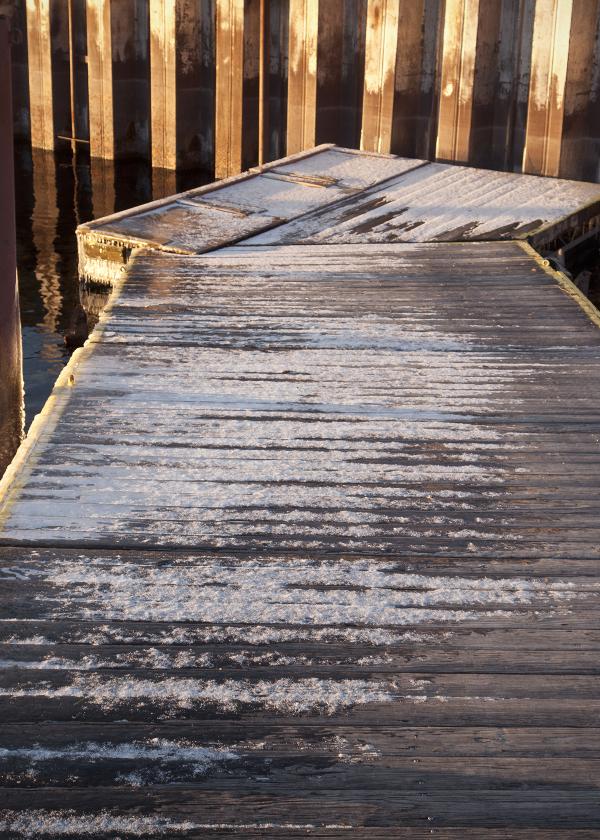 Frozen dock