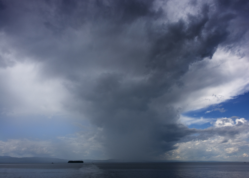 Storm over Lake Champlain