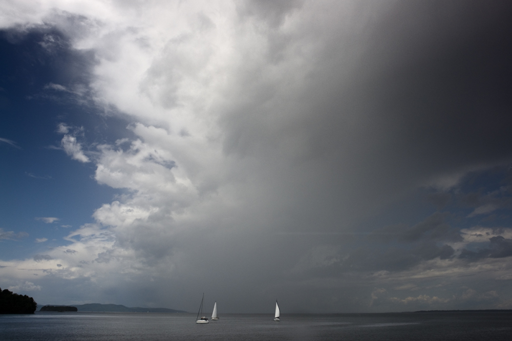Sail Boats and Storm Cloud