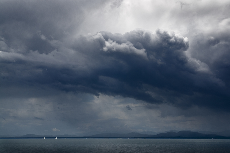 Sail Boats and Storm