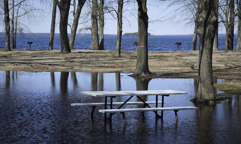 Lake Champlain in Flood Stage