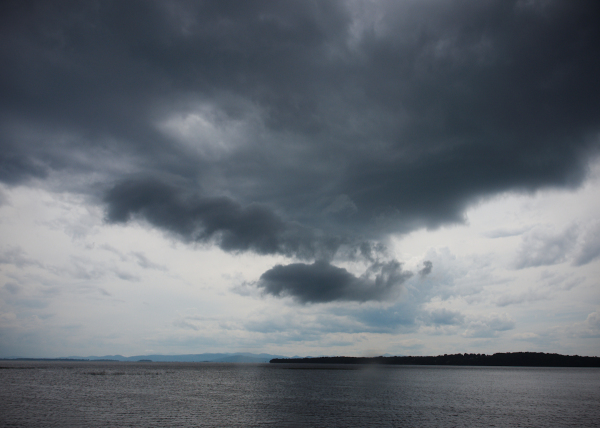 Odd Cloud over Lake Champlain