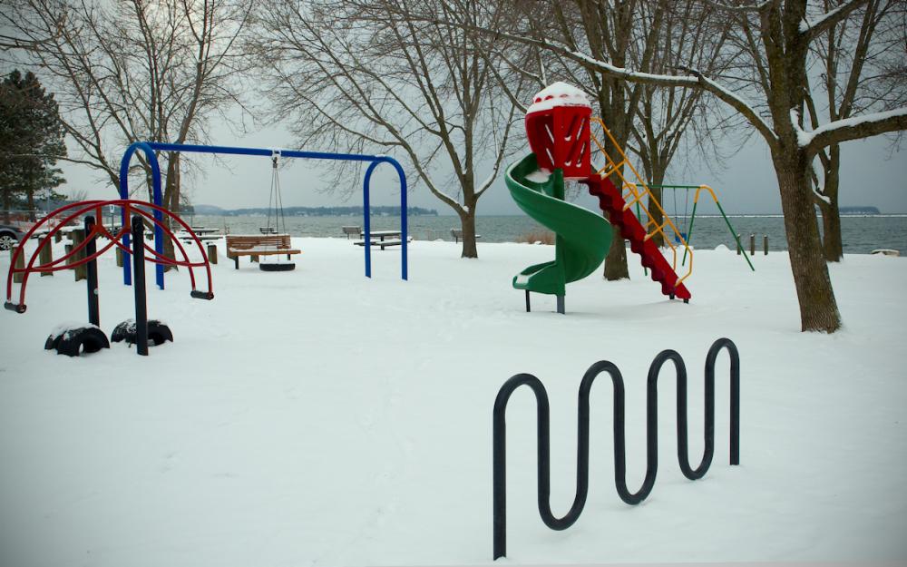 Next to Lake Champlain