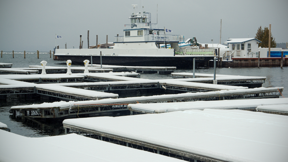 Ferry Boat Berthed for winter
