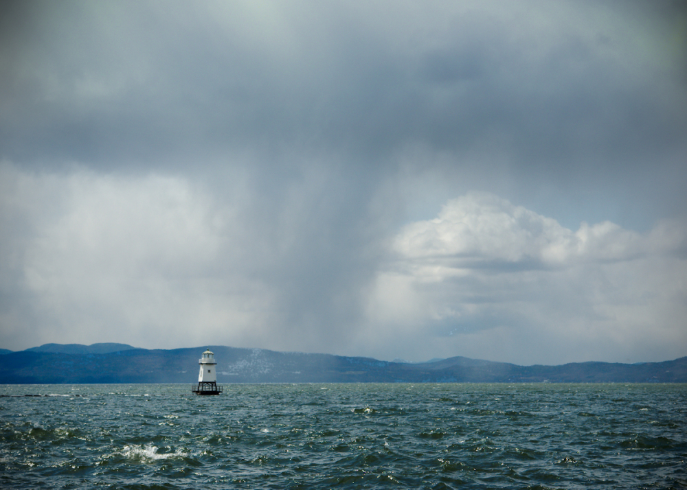 Snow Squall over Lake Champlain
