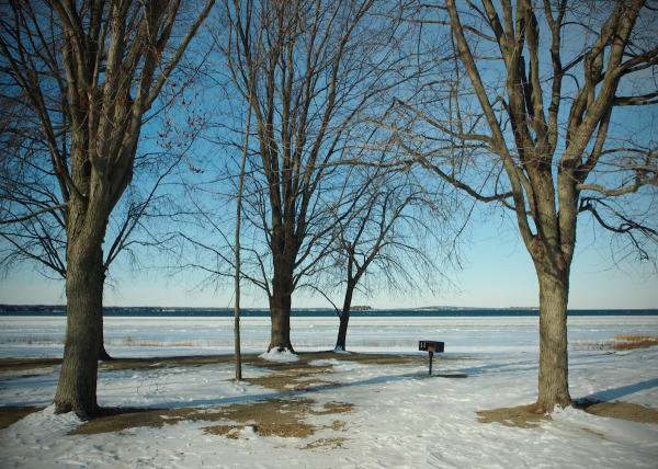 Partially Frozen Lake Champlain