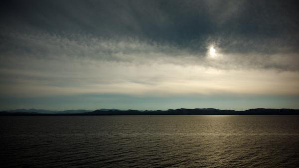Sunset and Lake Champlain