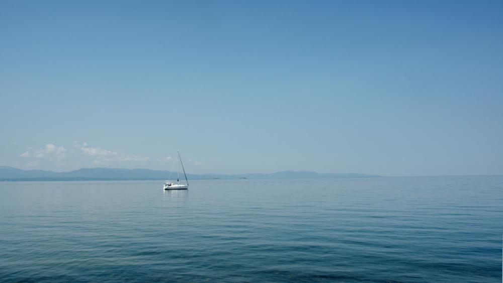 Boat on Lake Champlain