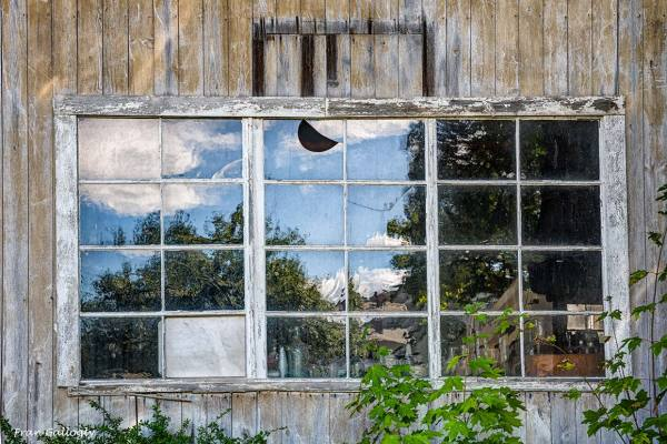 Broken Barn Window