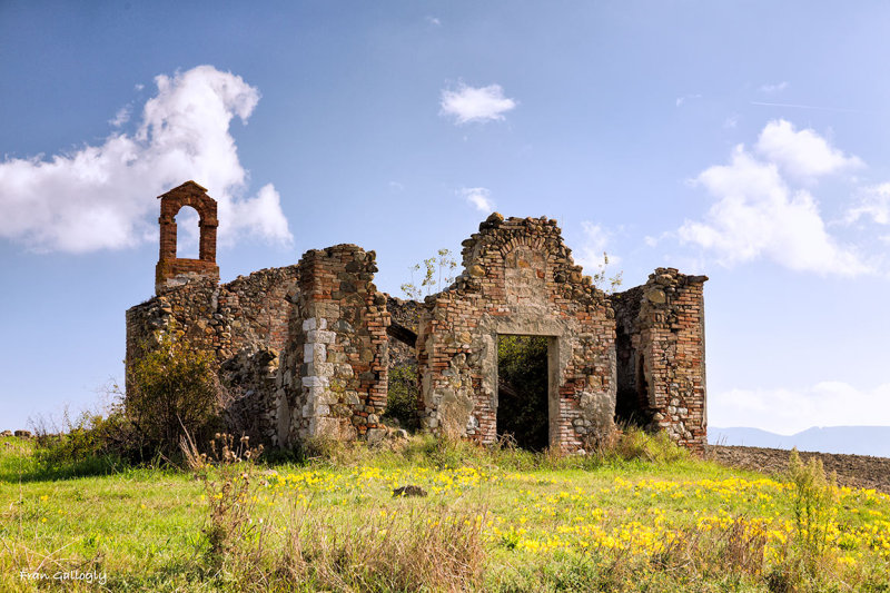 Ruined Chapel near Gallina, Tuscany