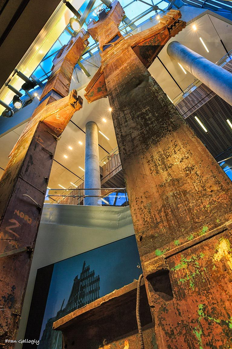 World Trade Center tridents at the 9/11 Museum
