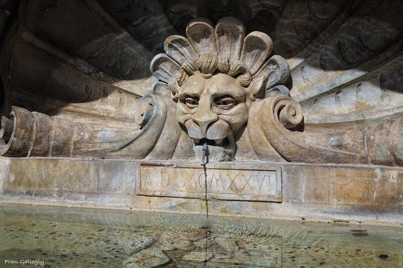Fountain, Radda in Chianti, Tuscany