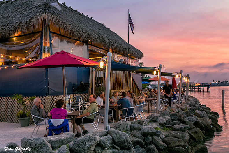 Dining and Watching the Sunset On the Ft. Pierce I