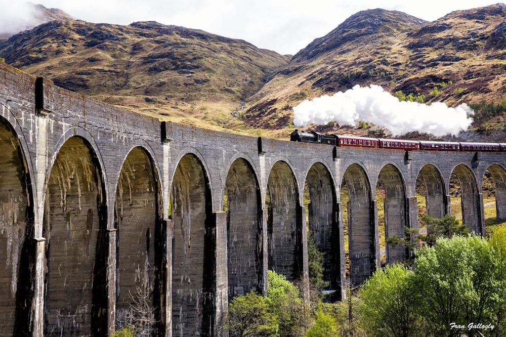The Jacobite on Glenfinnan Viaduct