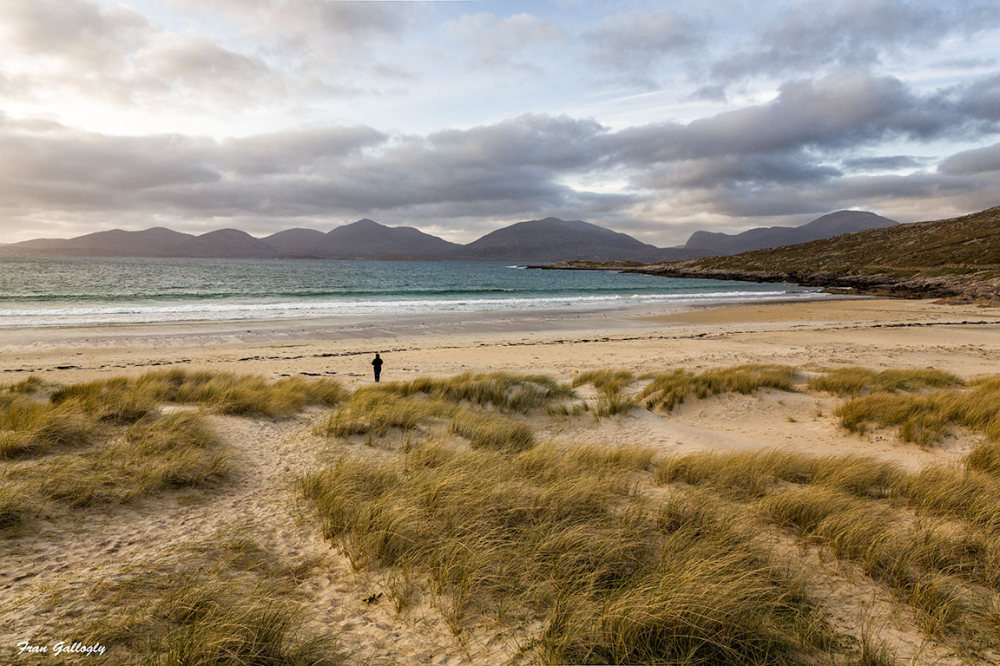 Beachcomber on Beautiful Luskentyre Beach