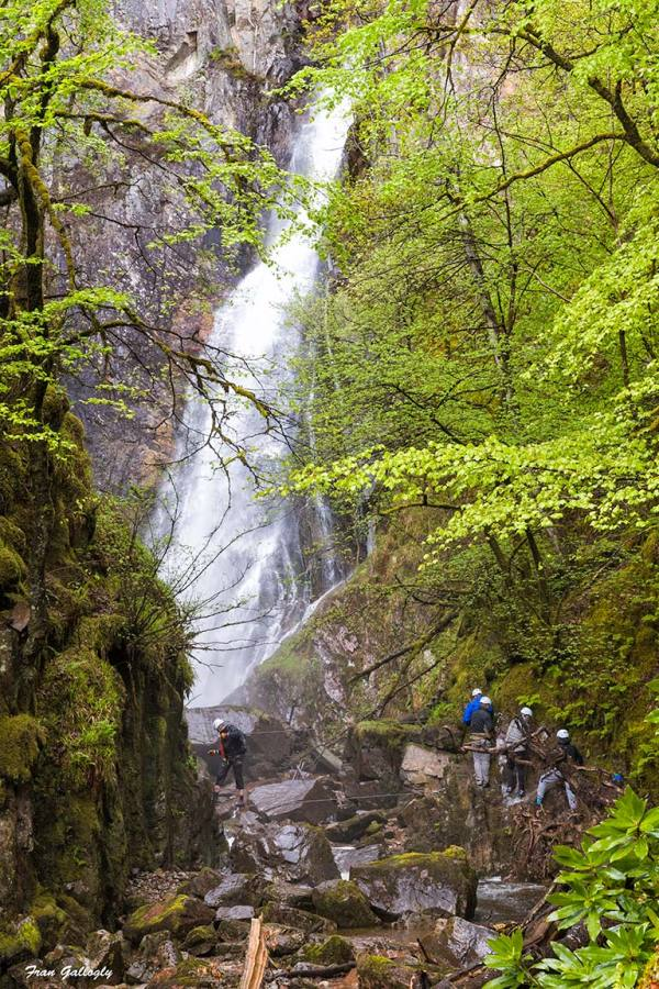 Rock Climbing at Graymare's Tail Falls