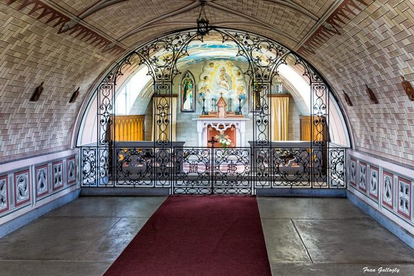 Interior of Italian Chapel, Orkney, Scotland