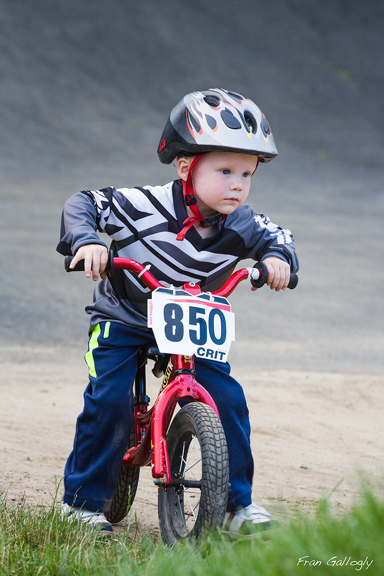Young BMX Racer on the Track