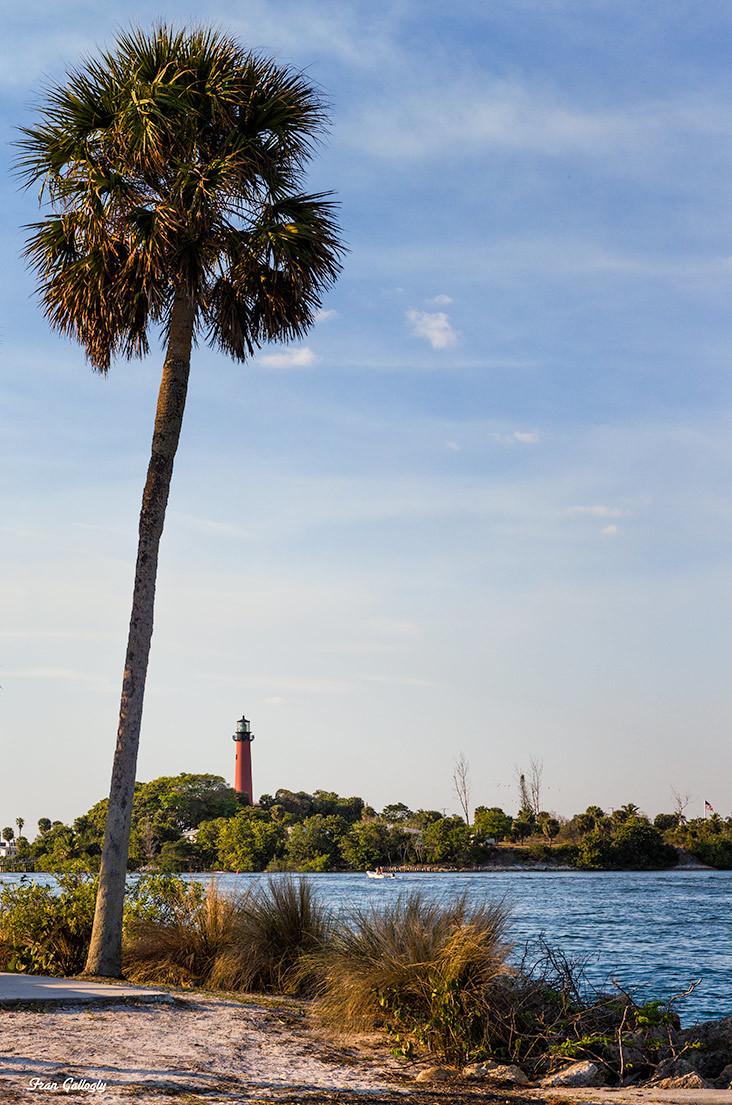 Jupiter Lighthouse as seen from Dubois Park