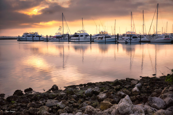 Sunrise at the Marina, Florida