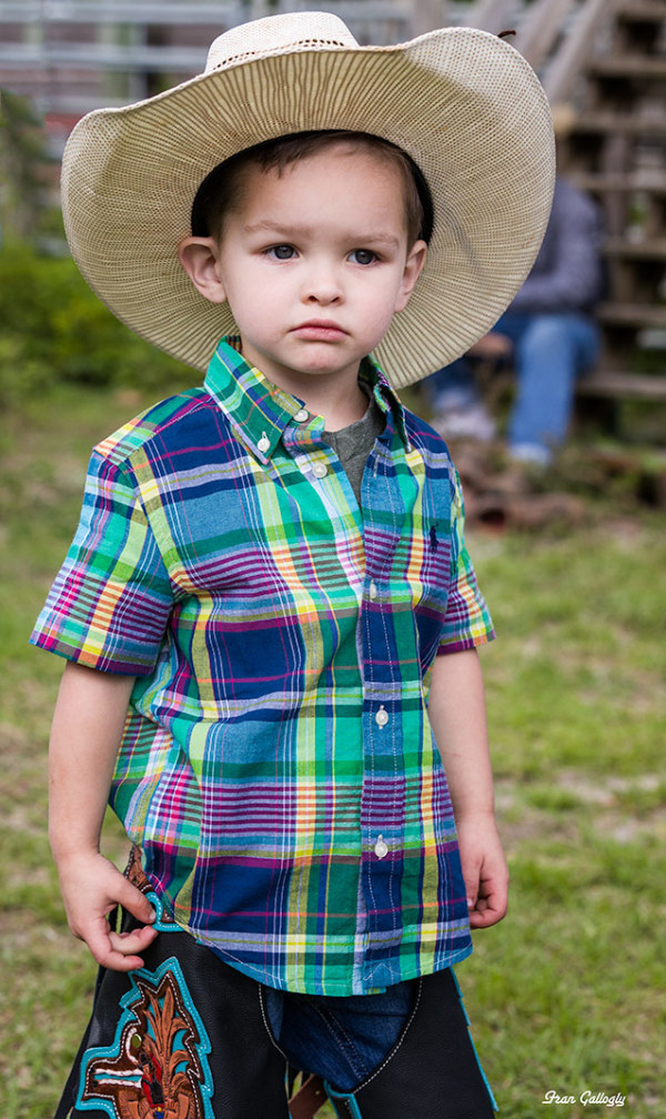 Child Dressed as a cowboy at Florida rodeo