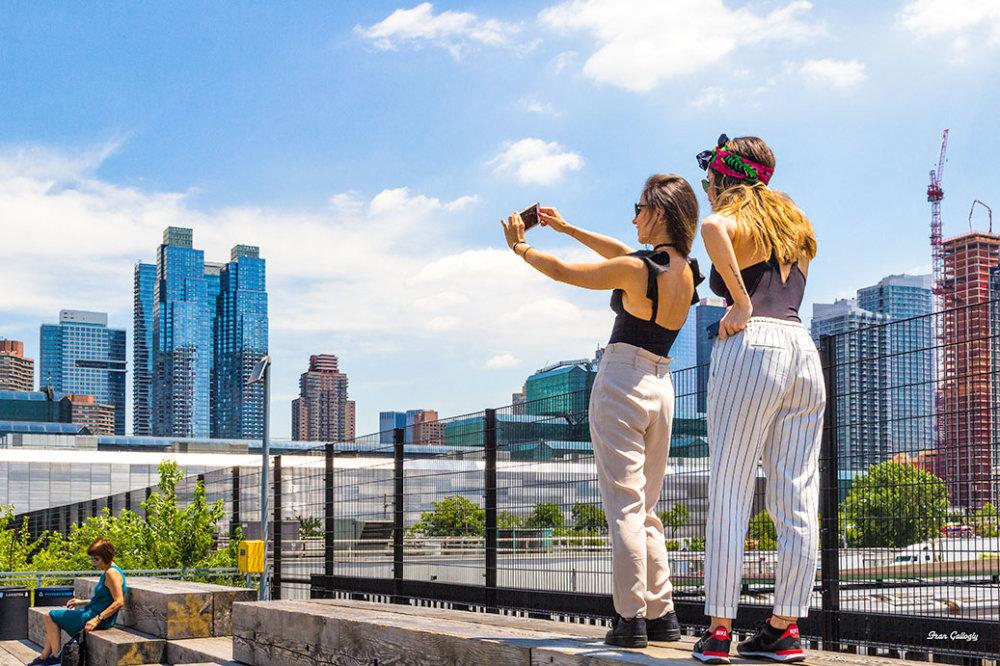 Selfie on NYC's High Line Park