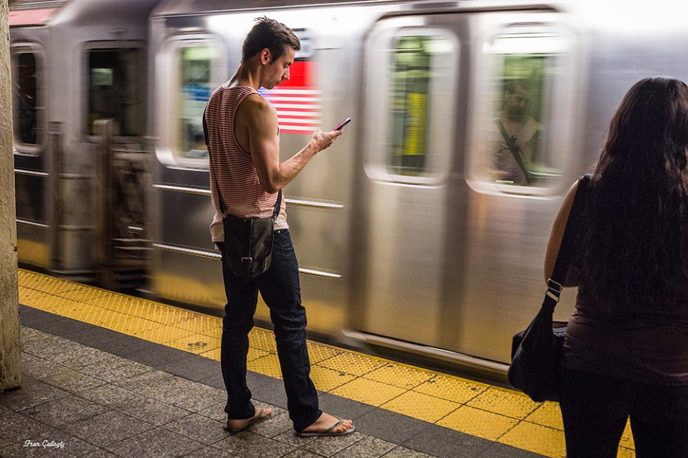 subway train at grand central station, new york ci