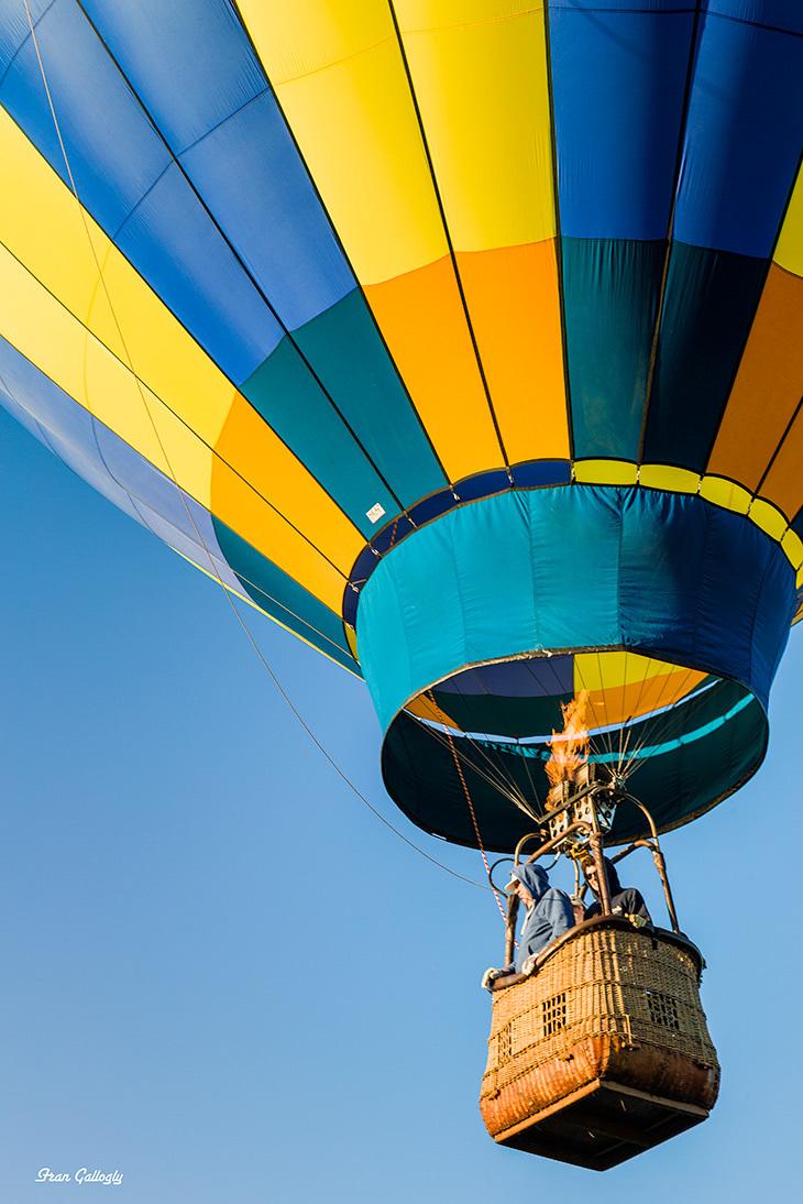 Hot air balloon in Goshen, CT, at festival