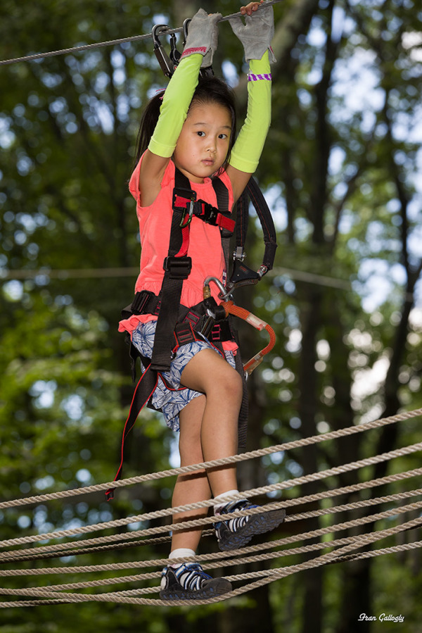 Child on Ropes Course at Adventure Park, CT