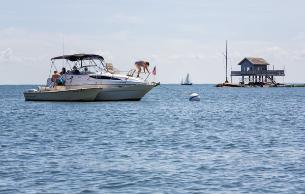 Boating at the Thimble Islands, Stony Creek CT