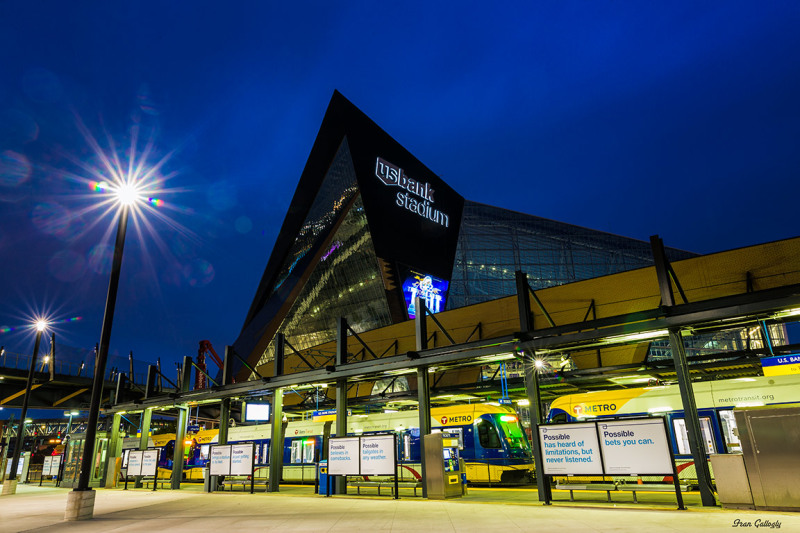 Vikings Stadium in Minneapolis at Dawn