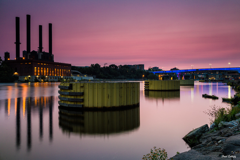 Mississippi River at Dawn in Minneapolis