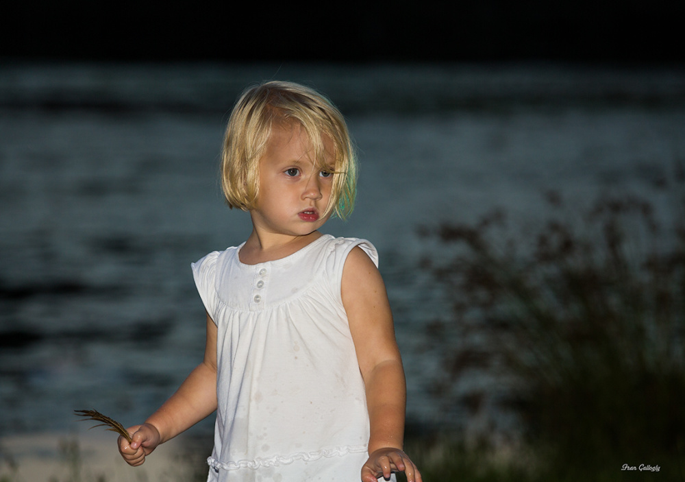 Child in Lake at Night, NYS