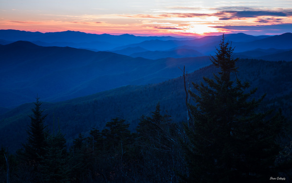 Sunset at Clingmans Dome, Smokies, TN