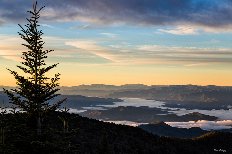Sunrise at Clingmans Dome, Smoky Mts