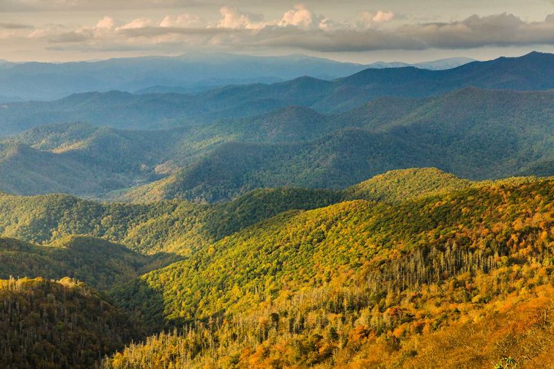 Mountains on Blue Ridge Parkway, Asheville, NC