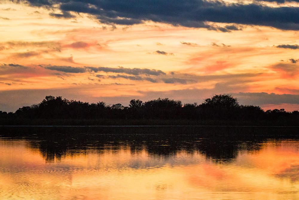sunset at Rich Grissom Memorial Wetland, viera, fl