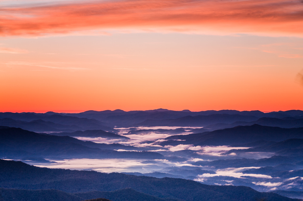 Dawn at Clingmans Dome, Great Smoky Mts National P