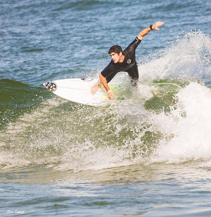 Surfer at Sebastian Inlet, Florida
