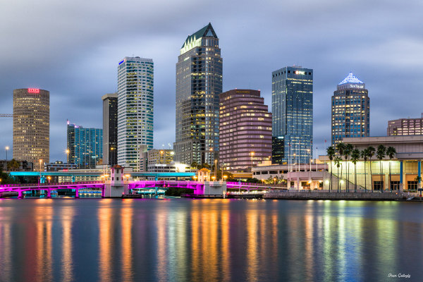 Tampa at Night,Florida