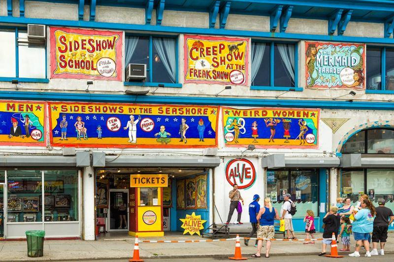Side Show at Coney Island, Brooklyn, NY